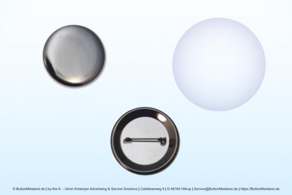 Rohlinge für 37 mm Buttons mit Anstecknadel