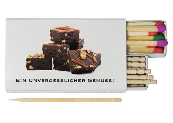Feuer & Zahnstocher - Streichholzschachtel - Zahnstocher