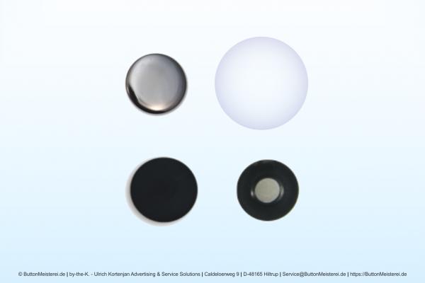 Rohlinge für 25 mm Buttons mit Magnet und Textil-Magnet