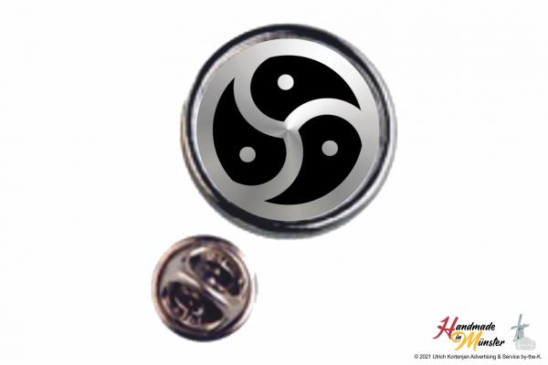 Pin Anstecknadel Ø 18 mm silber - individuell gestaltbar
