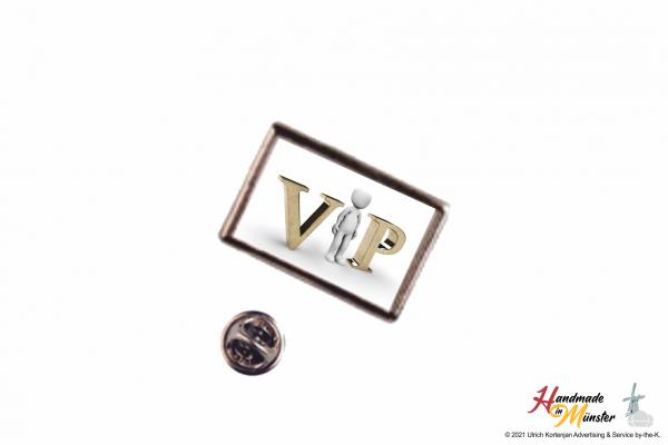 Pin Anstecknadel 21x13 mm silber - individuell gestaltbar