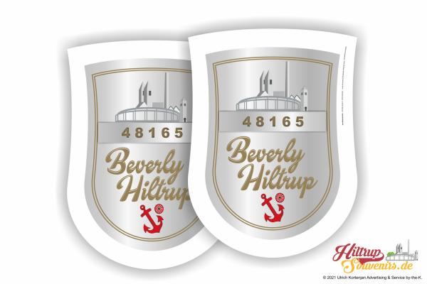 Beverly Hiltrup - Bierdeckel Wappenform 90 x 122 mm