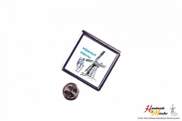 Pin Anstecknadel 15x15 mm silber - individuell gestaltbar