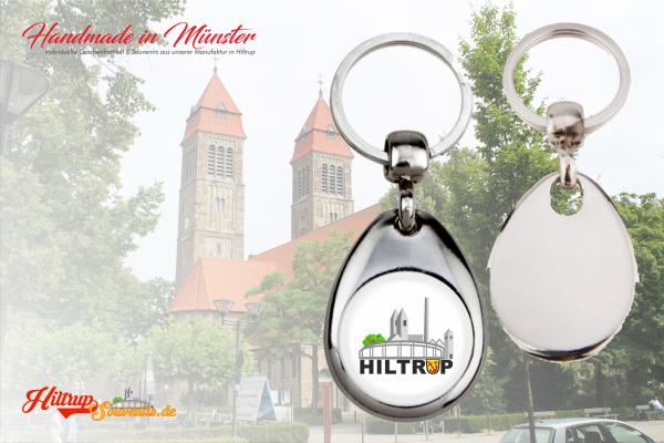 Schlüsselanhänger aus Metall mit Ihrem Wunschmotiv aus Hiltrup