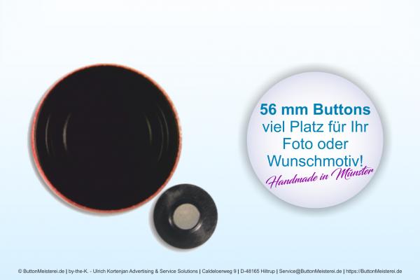 56 mm Button mit Textil-Magnet - individuell gestaltbar