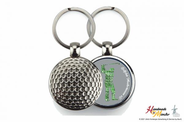 Golfball Schlüsselanhänger - 1-seitig individuell gestaltbar
