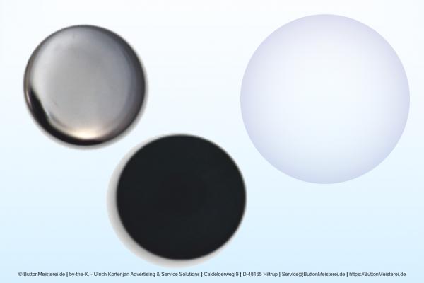 Rohlinge für 50 mm Buttons mit flacher Rückseite