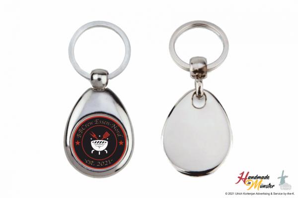 Schlüsselanhänger Tropfenform - 1-seitig individuell gestaltbar