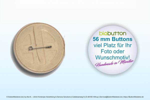 56 mm BioButton mit Anstecknadel - individuell gestaltbar