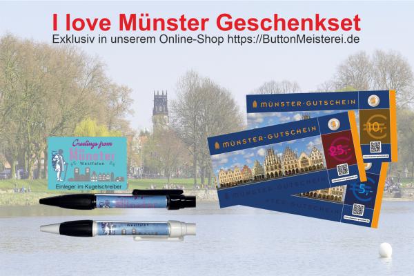 I love Münster Geschenkset - Kugelschreiber