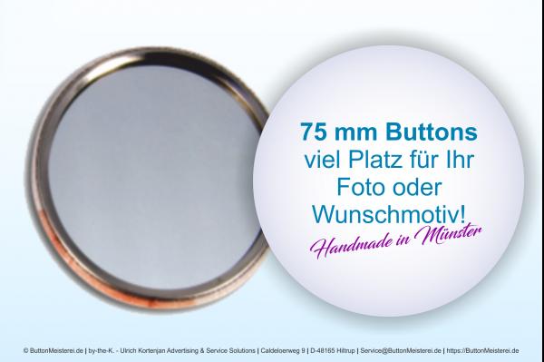 75 mm Button mit Spiegel - individuell gestaltbar