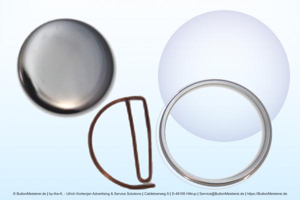 Rohlinge für 56 mm Buttons mit gebogenem Clip / Büroklammer