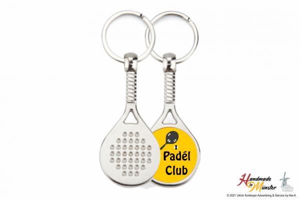 Padelschläger Schlüsselanhänger - 1-seitig individuell gestaltbar