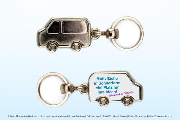 Fahrzeug Schlüsselanhänger aus Metall 20 x 38 mm - Rohling