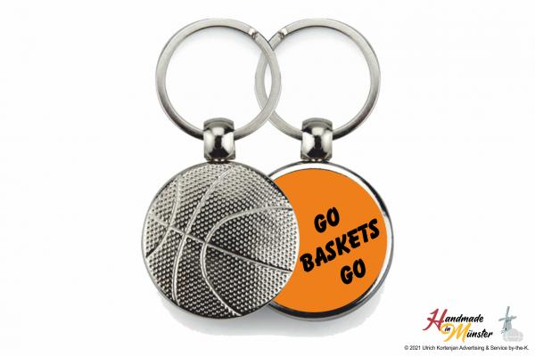 Basketball Schlüsselanhänger - 1-seitig individuell gestaltbar