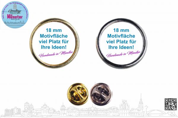 Pin Anstecknadel Ø 18 mm einseitig individuell gestaltbar