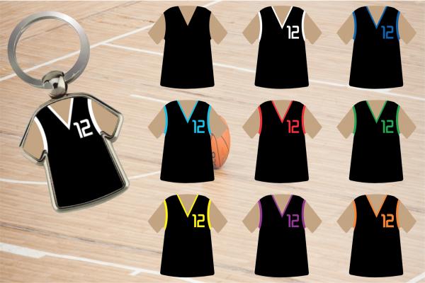 Schlüsselanhänger Basketball Trikot - 2-seitig individuell gestaltbar