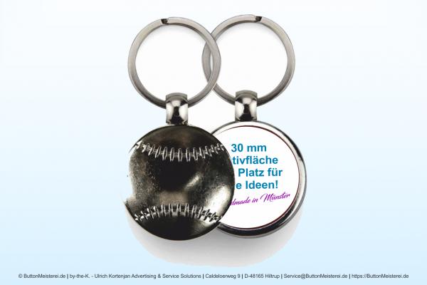 Sport Schlüsselanhänger 187 Baseball - einseitig Ø 30 mm