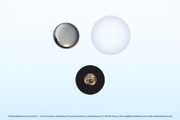 Rohlinge für 25 mm Ansteck-Buttons mit Pin und Butterflyverschluß
