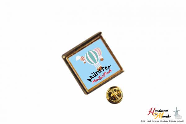 Pin Anstecknadel 15x15 mm gold - individuell gestaltbar