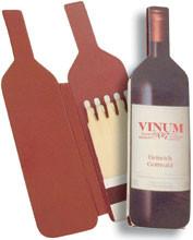 Weinflasche - Zündholzbriefchen