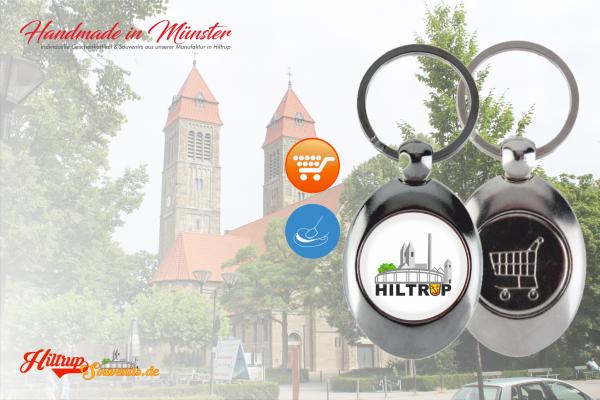 Hiltrup Schlüsselanhänger mit Münze für Einkaufswagen