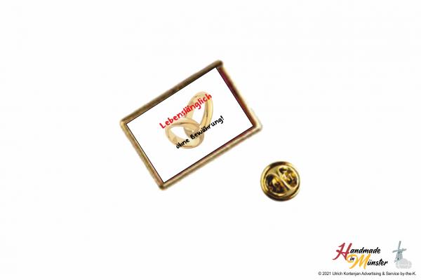 Pin Anstecknadel 21x13 mm gold - individuell gestaltbar