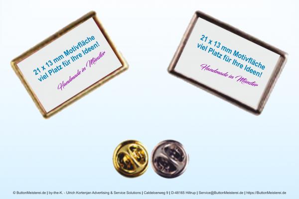 Pin Anstecknadel gold 21 x 13 mm - Rohling