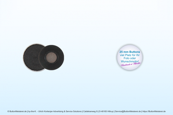 25 mm Button mit Textil-Magnet - individuell gestaltbar
