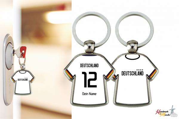 Schlüsselanhänger Trikot Nationalmannschaften - 2-seitig individuell gestaltbar
