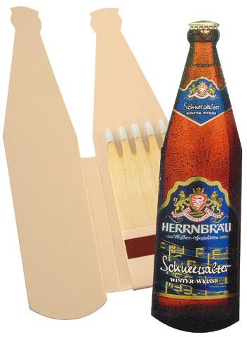Bierflasche - Zündholzbriefchen