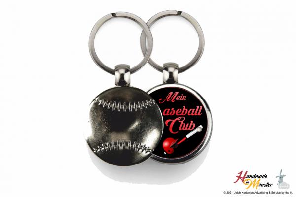 Baseball Schlüsselanhänger - 1-seitig individuell gestaltbar