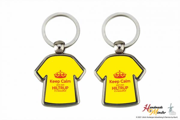 Schlüsselanhänger Shirt - 2-seitig individuell gestaltbar