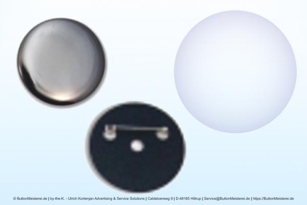 Rohlinge für 50 mm Buttons mit Anstecknadel